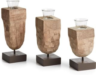 Kerzenständer Abbas - 3er Set - Holz - La Forma